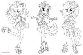 My Little Pony Girls Coloring Pages Elegant Equestria Mermaid Print