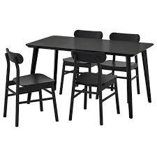 Lisabo Rönninge Tisch Und 4 Stühle Schwarz Schwarz In 2019