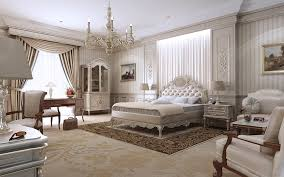 classic white bedroom furniture. Classic Bedroom Design With White Set Bed Equipped Cabinet Decorated Flower Vase And Hanging Lamp. Furniture