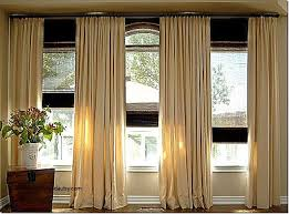 Curtains For Three Windows Luxury Triple Window Curtain Placement Kami  Living Room