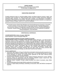 Executive Assistant Resume Example Sample