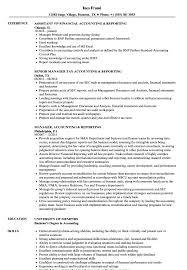 Accounting Reporting Resume Samples Velvet Jobs