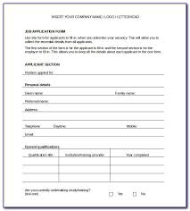 Job Application Form Template Word Format Form Resume Examples