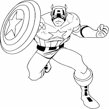 Captain America The Winter Soldier Coloring Pages Captian 9 Noscaorg