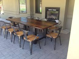 Brilliant Iron And Wood Patio Furniture Metal Garden E With Creativity Ideas