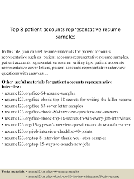Patient Access Representative Resume Sample Free Resume Example