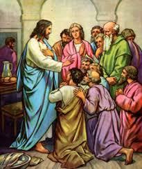 Image result for apostoles rezando padre nuestro