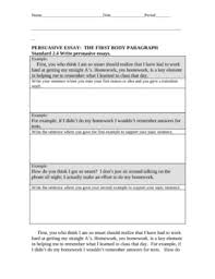 persuasive essay packet student example by academic language guru persuasive essay packet student example