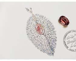 drawing of pendant from the tiffany co 2018 blue book collection the art of the wild tiffany co