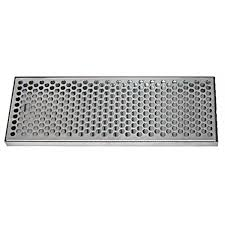 stainless steel drip tray with ss insert with drain 7 x 7 8 x 20