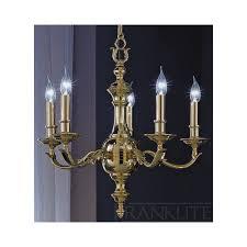 fl2106 5 knightsbridge 5 light traditional brass chandelier