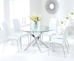 glass table with white chairs dining room round glass table and chairs house regarding contemporary property glass table with white chairs