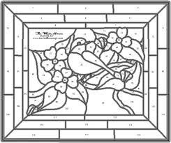 Stained Glass Flower Patterns Impressive Free Flower Patterns For Stained Glass
