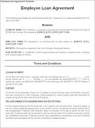 Company Loan To Employee Agreement Employee Loan Agreement Employee Loan Template Employee Loan