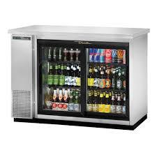 true tbb 24 48g sd s hc ld sliding glass door back bar cooler