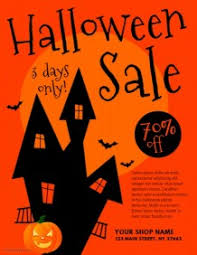 halloween sale flyer customizable design templates for halloween sale postermywall