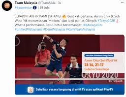 Jul 24, 2021 · pasangan beregu lelaki negara, aaron chia dan soh wooi yik memulakan saingan badminton beregu lelaki bagi kumpulan d di sukan olimpik tokyo 2020 dengan langkah kanan. 1kby7hepevfocm