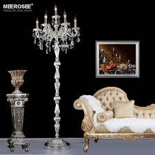 lovely classic 7 lights crystal floor lamp floor stand light fixture for chandelier standing lamp