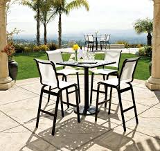 patio furniture 5 piece set marvelous high top outdoor table top patio bar sets of maui