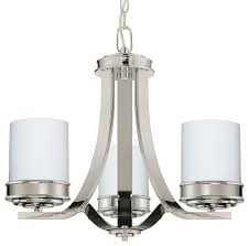 abbey 3 light foyer chandelier white opal glass shades brushed nickel