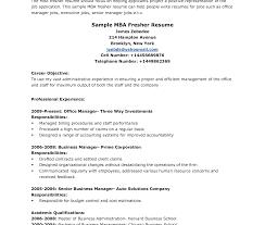 Funky Sample Resume For Mba Freshers Doc Elaboration Documentation