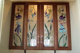 custom cabinet door art glass by sgo designer glass of los angeles custommade com