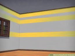 image titled hang border wallpaper step 1