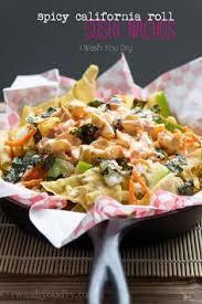 y california roll sushi nachos