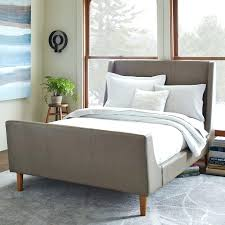 tufted upholstered sleigh bed.  Upholstered Modern Sleigh Bed Stylish With Upholstered  Linen Weave West Elm Tufted  To Tufted Upholstered Sleigh Bed