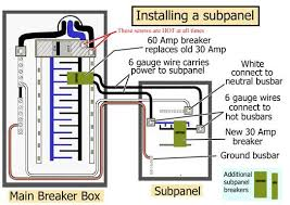wiring diagram for 30 amp breaker box wiring discover your breaker sub panel wiring diagram breaker wiring diagrams for