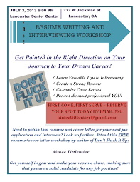 Free Resume And Interview Workshop Don T Fluck It Up
