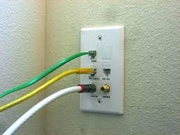 Ethernet And Coax Wall Plate