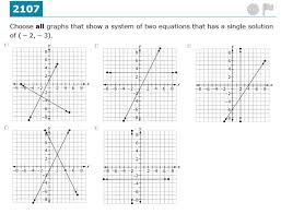 content 8 ee c 8 a understand that solutions to a system of two linear equations in two variables correspond to points of intersection of their graphs