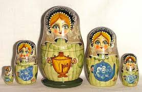 russian tea drinking tradition russian traditions  nesting doll russian tea party