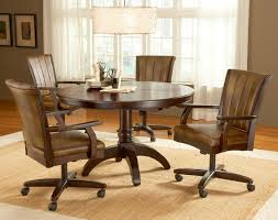 dining room table with swivel chairs 4298 dining chairs on wheels
