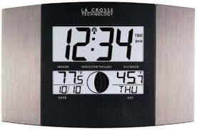 clocks la crosse technology atomic wall