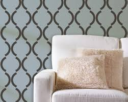 large wall stencils for paintingLarge Graphic Wall Stencil Art Deco Design Trellis Pattern
