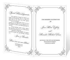 program template for wedding free printable wedding program templates wedding program template