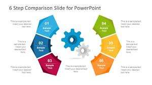 6 Step Modern Comparison Template For Powerpoint Business