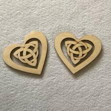wood craft shapes celtic hearts