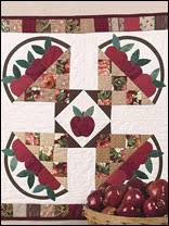 Free Autumn Quilting Patterns - Page 1 & Apple Harvest Wall Quilt Adamdwight.com
