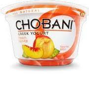 chobani greek yogurt non fat peach nutrition