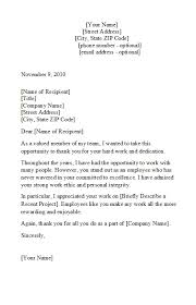 Letter Of Recognition Examples 49 Printable Employee Recognition Letters 100 Free