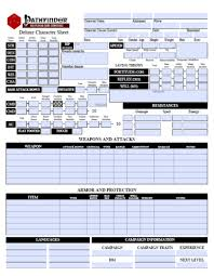 character sheet pathfinder deluxe pathfinder character sheet form fillable open gaming store