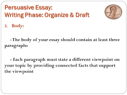 persuasive essay the penny debate yes or no ppt persuasive essay writing phase organize draft