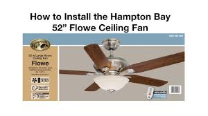 hunter ceiling fan with remote installation
