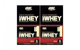 optimum nutrition gold standard 100 whey protein vanilla ice cream 1 09 oz 6 count 2 pack