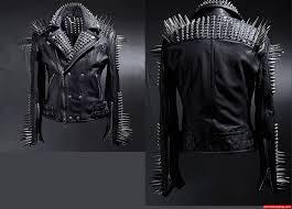 men studded black leather jacket 777223dg zoom helmet