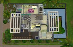 Small Picture Home Design Modern House Floor Plans Sims 4 Contemporary