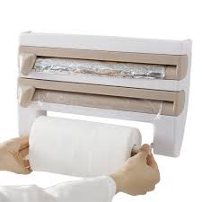kitchen towel holder wall mounted. Kitchen-Cling-Film-Storage-Rack-Shelf-Cutter-Wall- Kitchen Towel Holder Wall Mounted O
